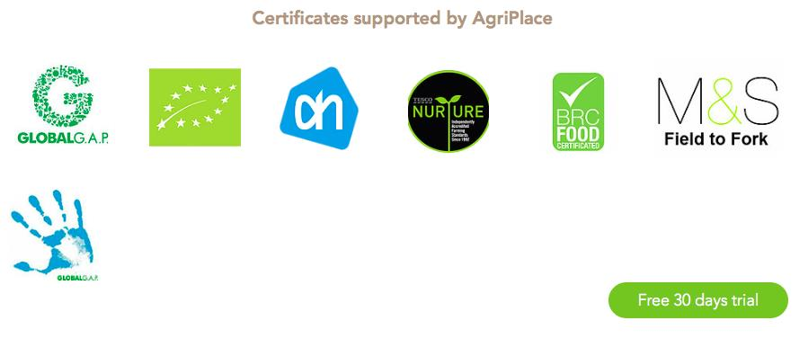certificados agriplace
